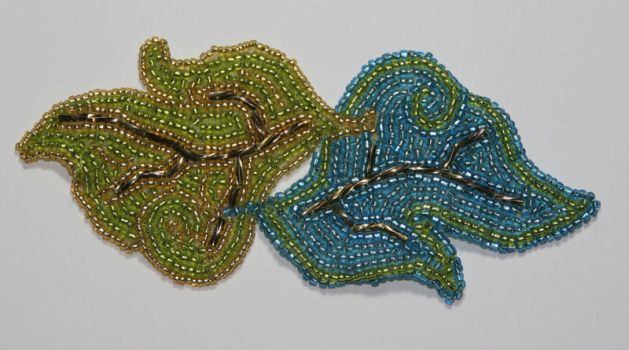 Embroidered Leaves by Mousethful
