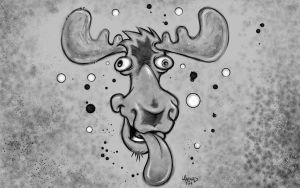 Drunk Moose by MRHaZaRD