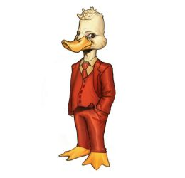 Howard The Duck commission  by fid999et