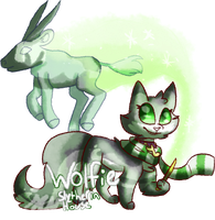 Slytherin Wolfie by Puddlewhiskers