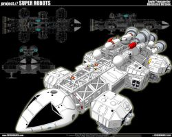 Space 1999 Eagle Transporter 5 by cosedimarco