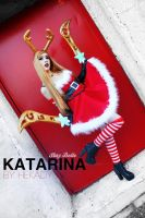 Katarina wish you a Merry Christmas . Cosplay LoL by Hekady