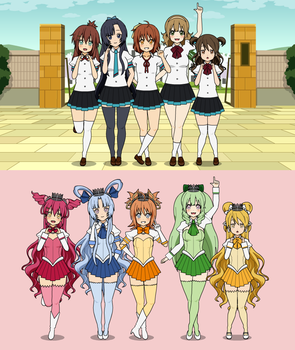 PreCure OCs: Shine Pretty Cure! by SAKU02