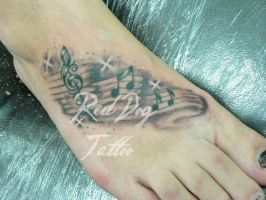 Michelle's foot by Reddogtattoo