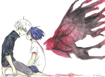 Kaneki and Touka by sintu-manga