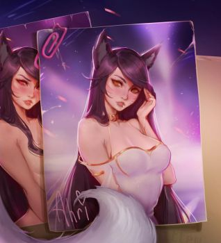 Ahri comission for MistressAhri by Kittew