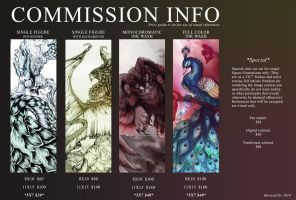 Drawing Commission Price Guide 2014 CLOSED by ZombieHun