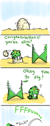 How Parrot learned to fly by Faezza