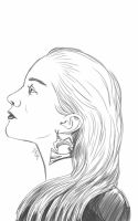 Daily Sketch: I Don't Need You To Like My Earrings by Hunchy