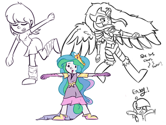 I did a bunch of doodles by TwitterShy
