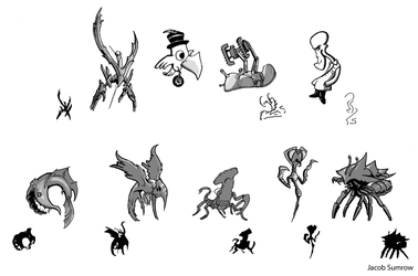Creature and Character concepts by Scorpiu5
