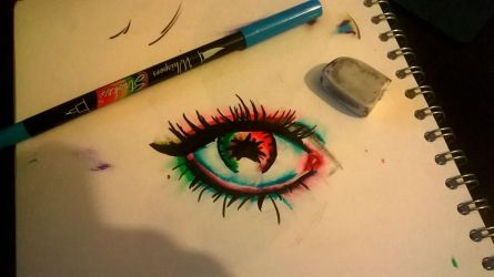 Eye water colour effect by TheMacFarlane