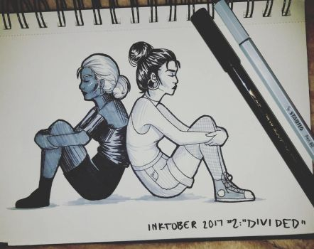 Inktober 2017 Day 2: Divided by CatieCreates