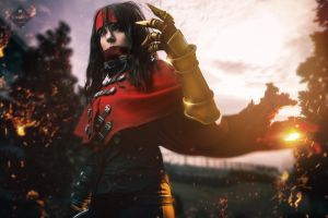 Vincent Valentine Genderbend by bloodravencosplay