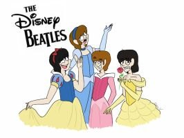 The Disney Beatles  by psychedelic-weirdo