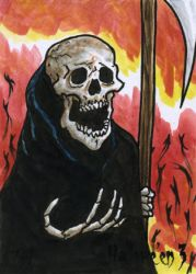 Hallowe'en 3 Sketch Card - Ted Dastick Jr. 1 by Pernastudios