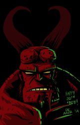 happy 20th Anniversary, Hellboy! by chachaman