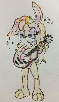 :Sketch Color: Bunnie by Shadow4one