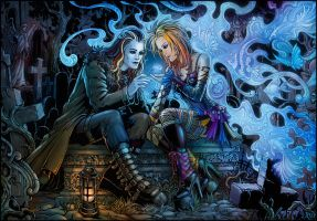 Graverobber and Delirium by Candra