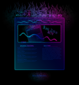 Rockband Web Design v1 by Death-GFx