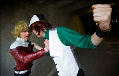 Barnaby and Kotetsu - Tiger and Bunny - FAITOOO!!! by Elffi