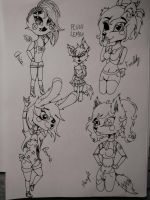FNAF ladies by Pink-Sanity