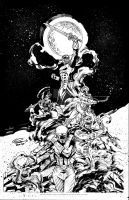 Go Go Power Rangers #1 Cover Inks by IanNichols