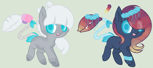 Pastel Plant Pony Adopts - Closed by er-ro