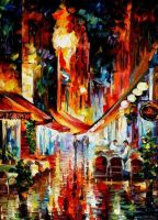 Brussels - Before The Night Starts by L. Afremov by Leonidafremov