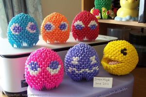 Pac-Man - 3D Origami by o0DreamMyst0o