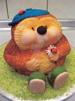 Hedgehog cake by ginas-cakes