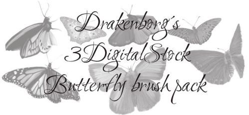 Butterfly brush pack by 3DigitalStock