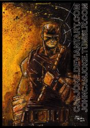 Sketchcard - Daredevil Yellow by Canjoke