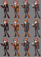 Wardrobe Concept for Jack Spicer by CharactersByChaos