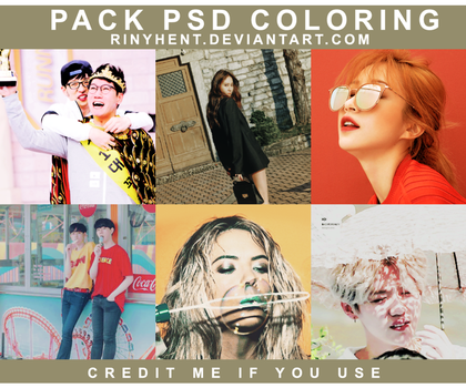 PACK PSD COLORING BY RinYHEnt by RinYHEnt