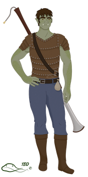 Madrigal the Half-Orc Bard by The-Emerald-Otter