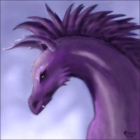 Purple dragon by Cidranja