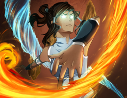 Korra's Fury by PencilPaperPassion