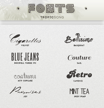 New Fonts [ #1 PACK ] by tropicsong