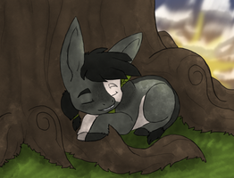 [delerior]resting under a tree(prompt) by millemusen
