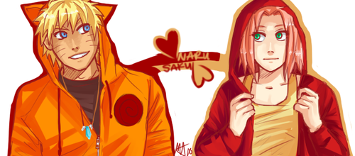 NaruSaku . Hoodies by starchiishio