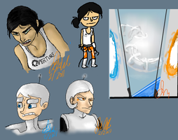 Portal iScribble Doodles by Wolf-Shadow77
