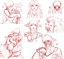 .C-D Sketchdump 8. by Melodious-X