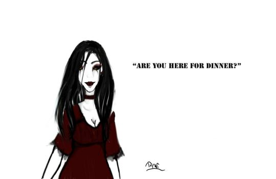 Are you here for dinner? by Ashriel-kid-of-Voldy