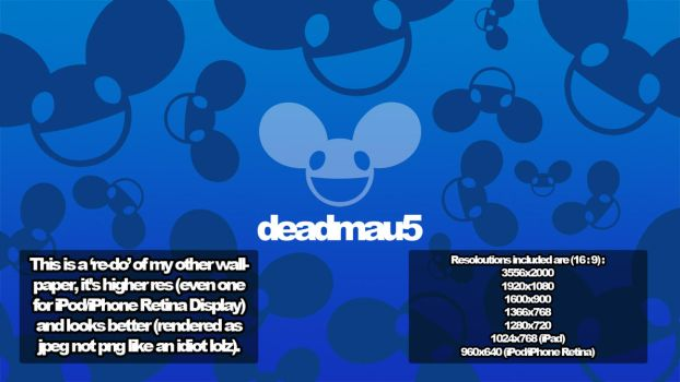 Deadmau5 Wallpaper 'RE-DO' by jollypop2008