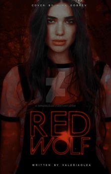red wolf, wattpad cover by minabld