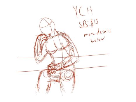 Sitting character YCH auction (closed) by xtofubreadx