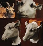 Yule Goat Mask Sculpt! by Nymla