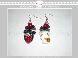 Japan Life - Earrings Geisha Red by AyumiDesign