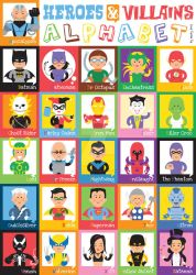 Heroes and Villains Alphabet by strongmarty